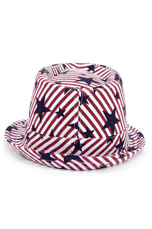 Spring/Summer USA Stars StripesTrilby Fedora - One Color - Back