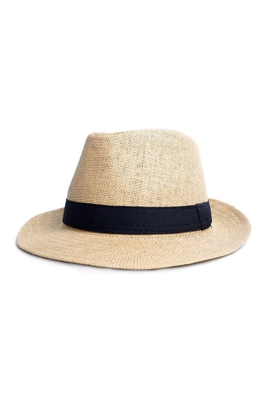 Spring/ Summer Wide Brim Panama Hat - Straw - Back