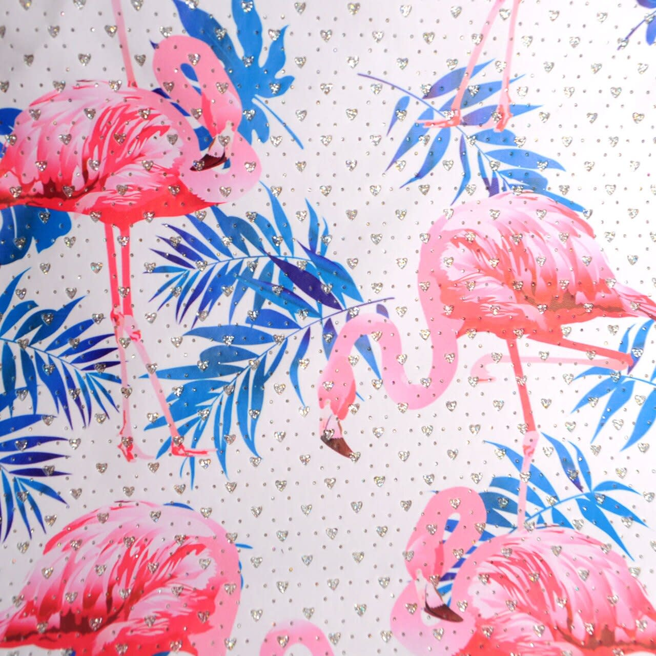 Flamingo x Palm Leaves Tote Beach Bag - Light Beige - Detail