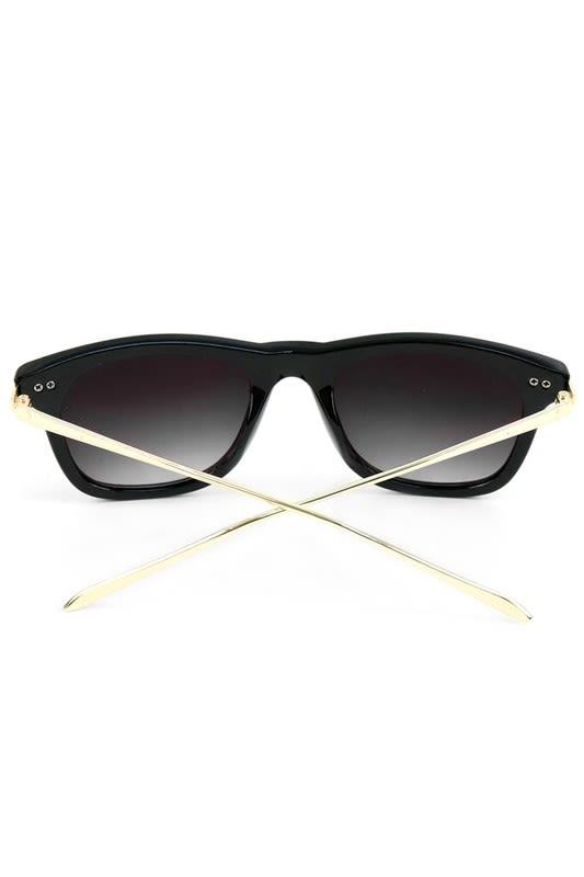 Black Rectangle Sunglasses - Black - Back
