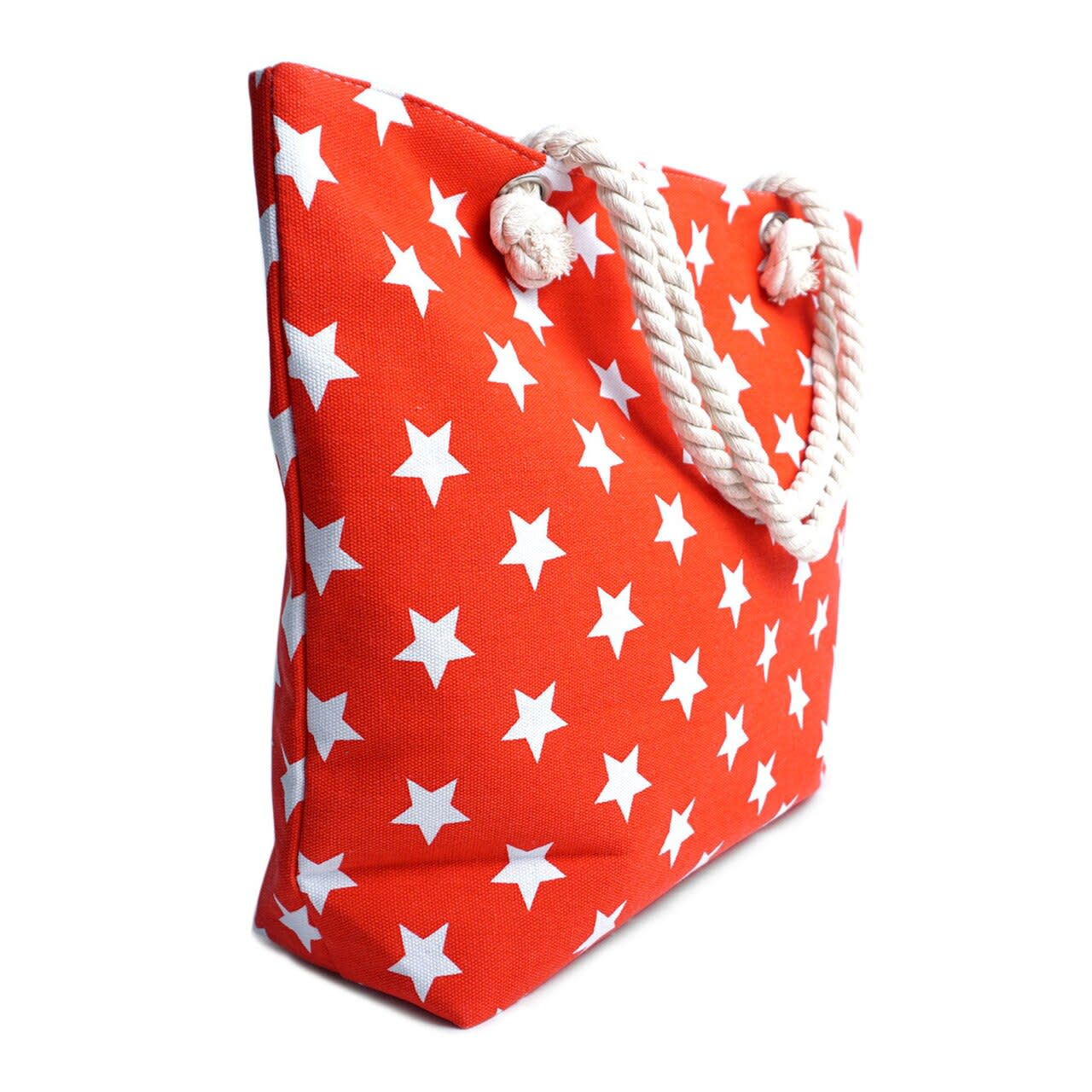 Red Stars Tote Bag - Red - Back