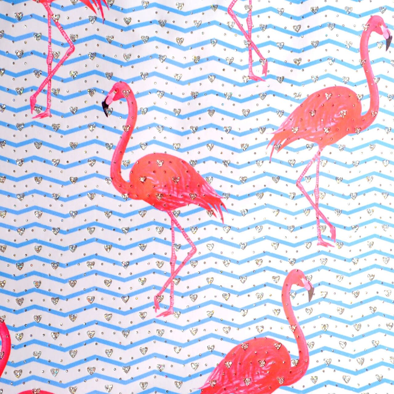 Flamingo Rhinestone Tote Beach Bag - Light Beige  - Detail