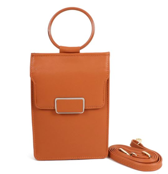 Multiuse Wallet/ Bag - Brown - Front