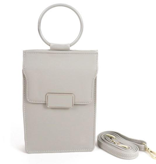 Multiuse Wallet/ Bag - Gray - Front