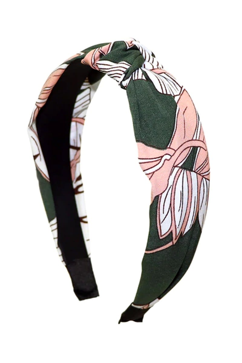 Floral C-Shaped Headband - Multi - Front