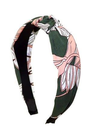 Floral C-Shaped Headband - Multi - Back