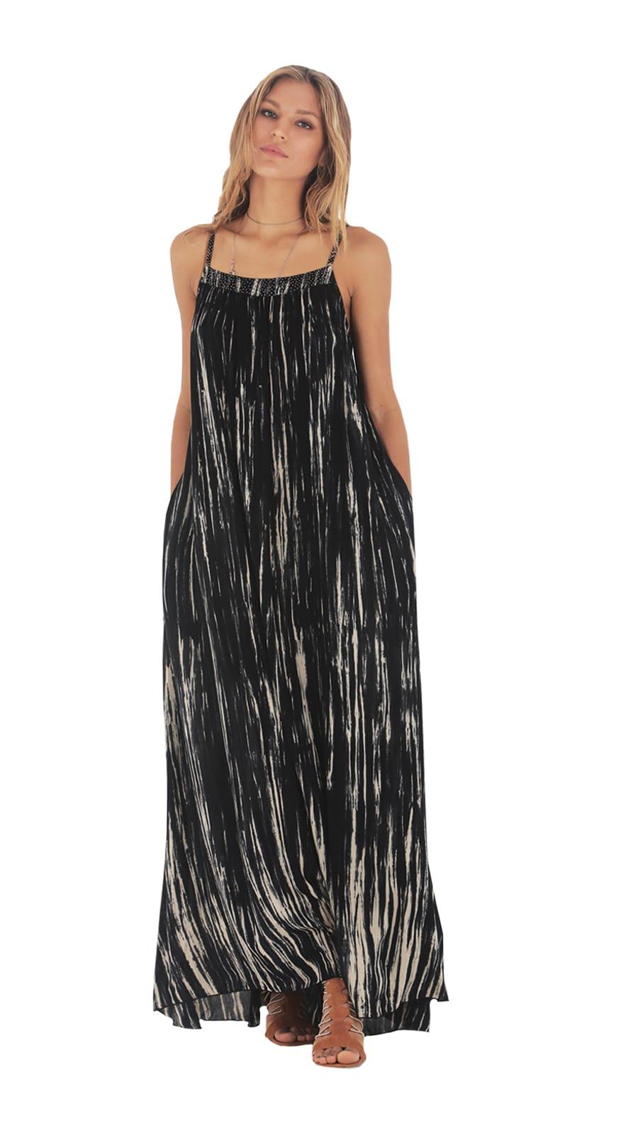 Riva Dress - Fog Black - Front