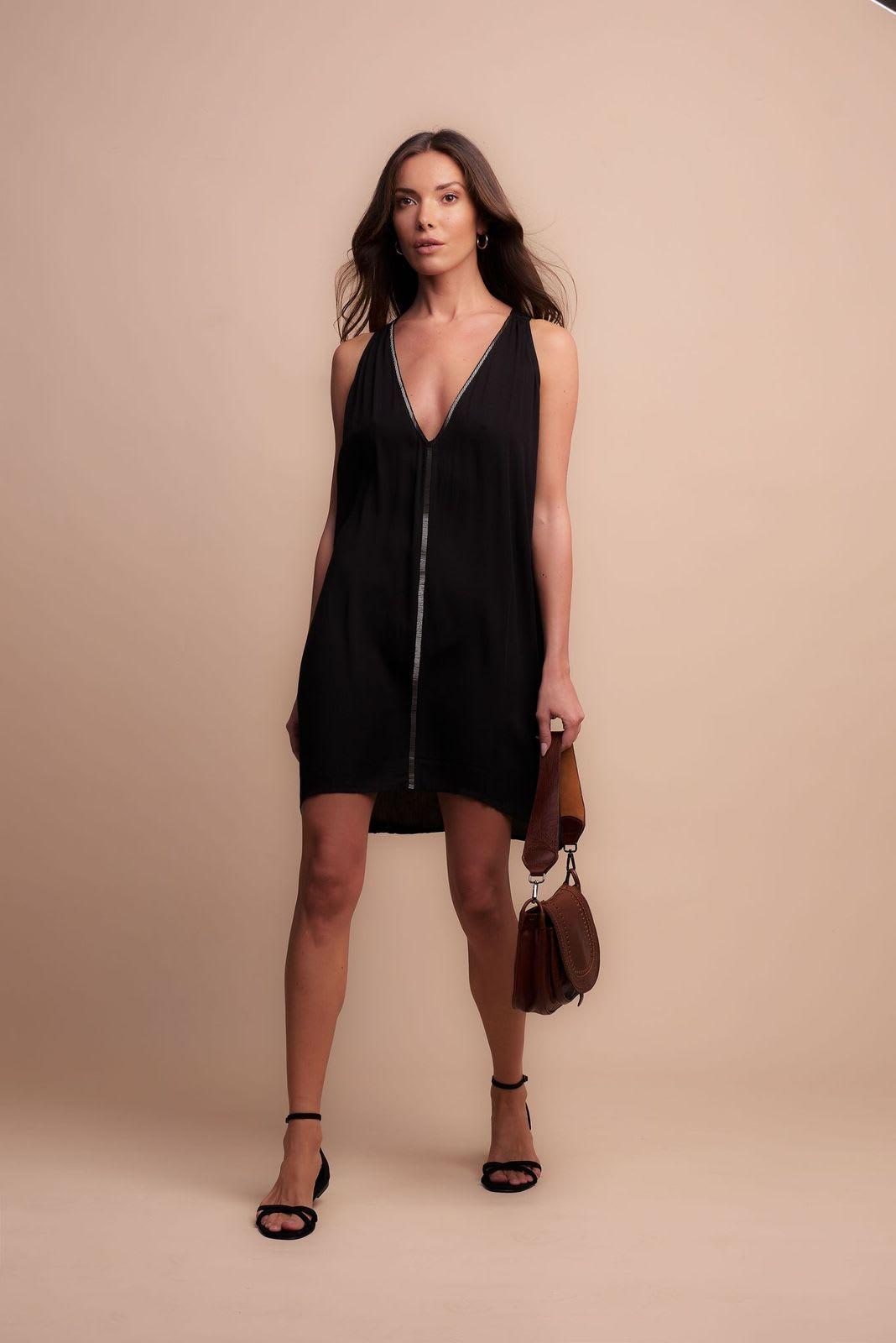 Nicky Dress - Black - Front