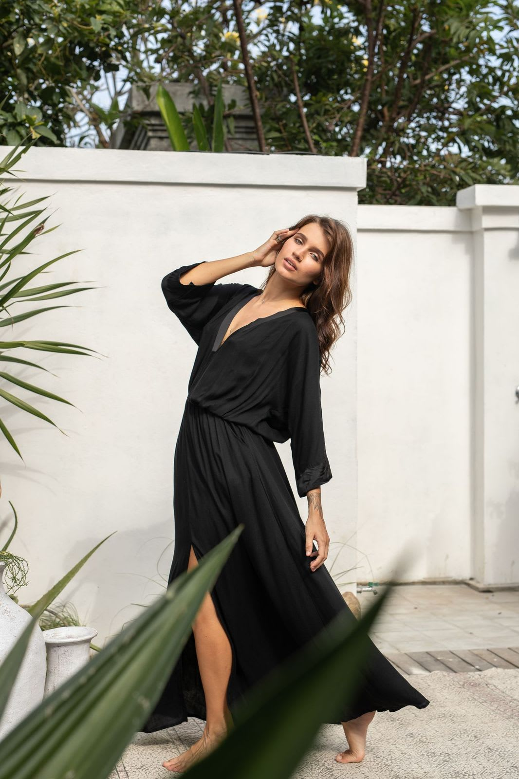 Maxi Kaftan - Black - Back