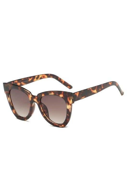 Cat-Eye Sunglasses -  Tortoise - Back
