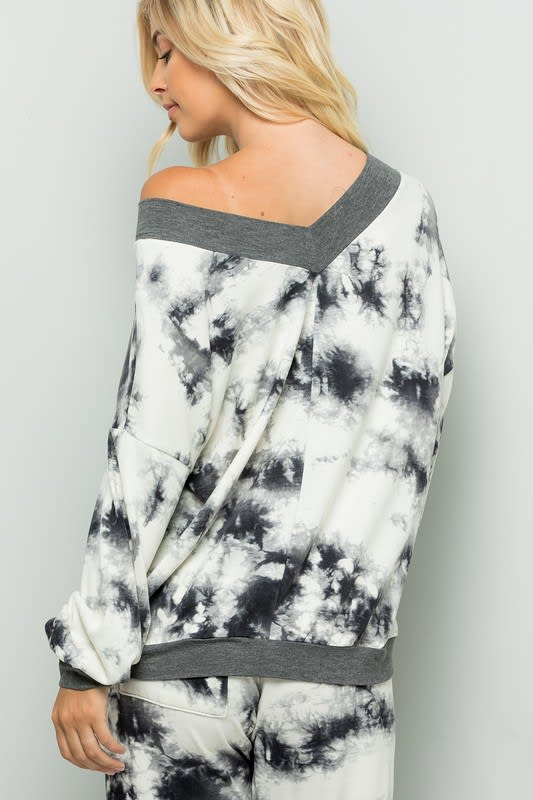 Tie Dye Top - Ivory  - Back