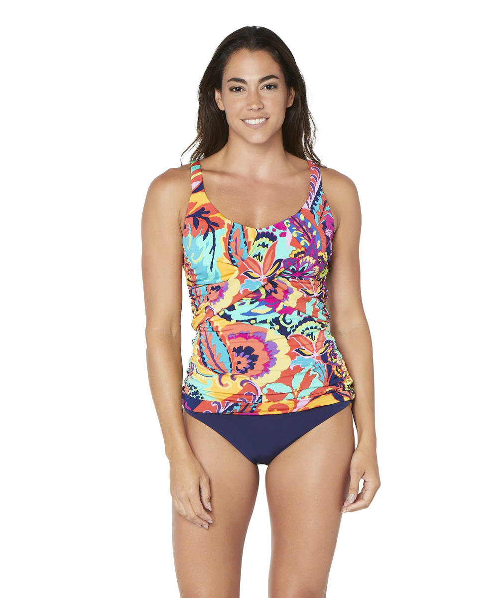 Tahari® Paris Floral Tankini Swimsuit Top - Multi - Front