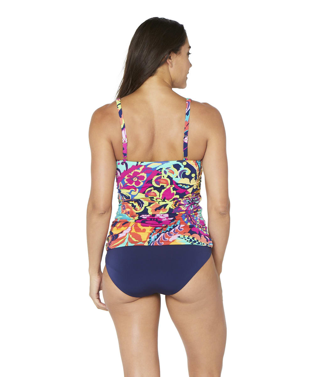 Tahari® Paris Floral Tankini Swimsuit Top - Multi - Back