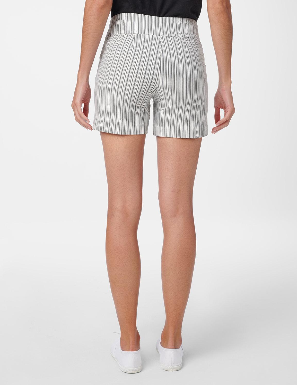 Sailor Short with Button Detail - Black/White - Back
