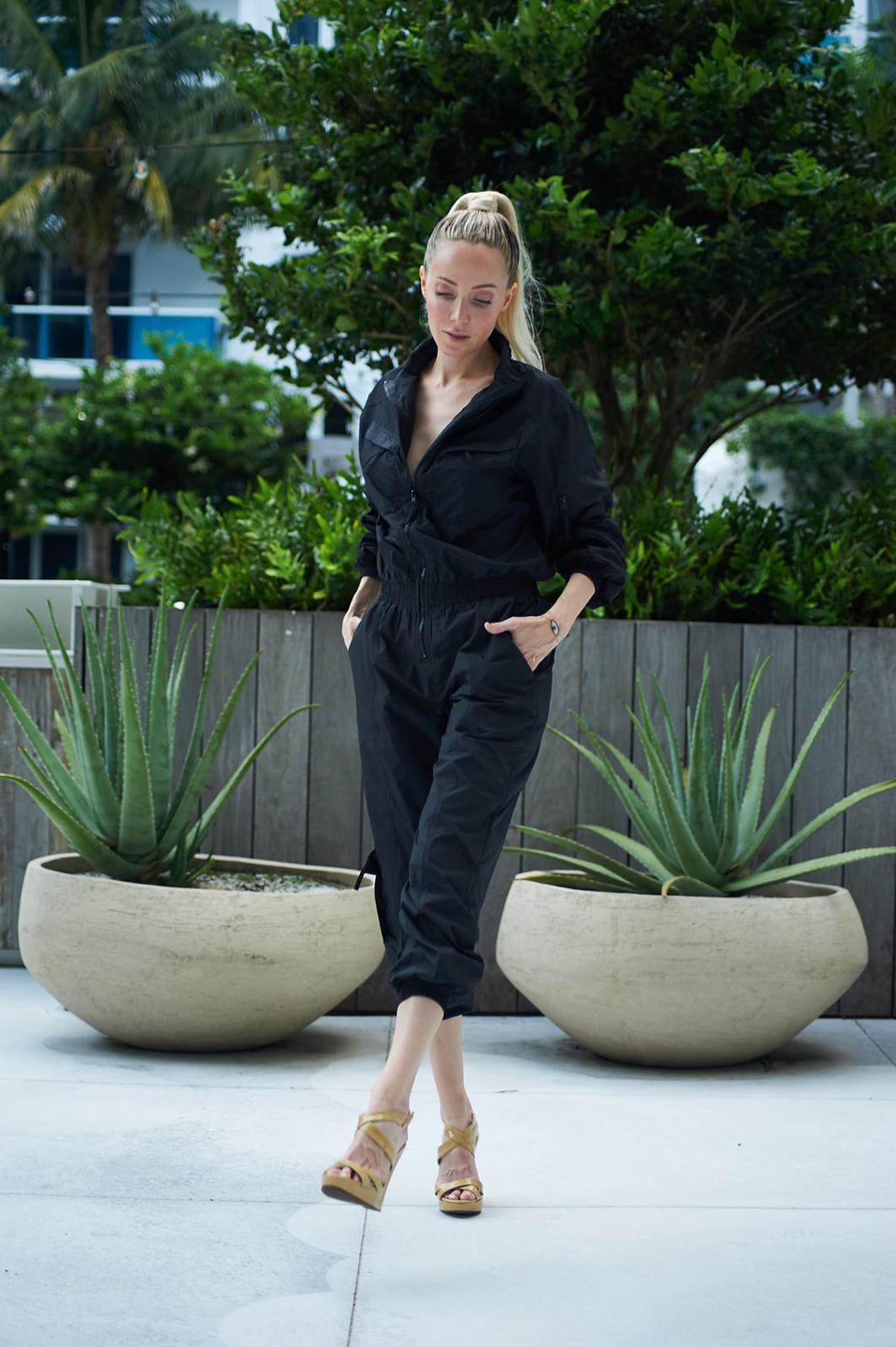 Luiza Jumpsuit - Black  - Front