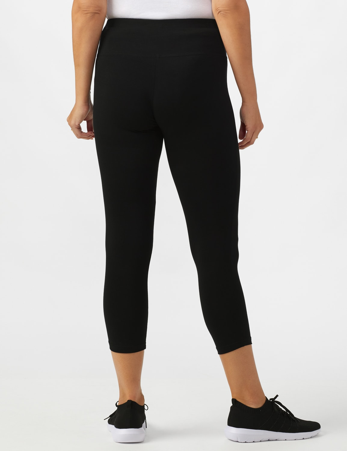 Tummy Control Capri - Black - Back