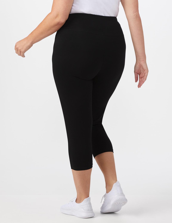 Tummy Control Capri - Plus - Black - Back