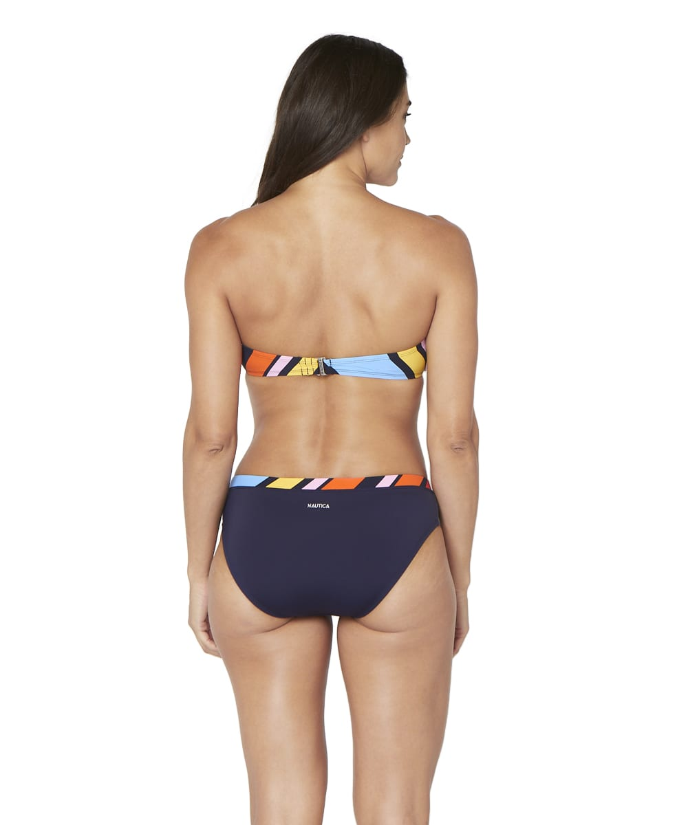 Nautica® Newport Stripe Swimsuit Bikini Bottom - Multi - Back