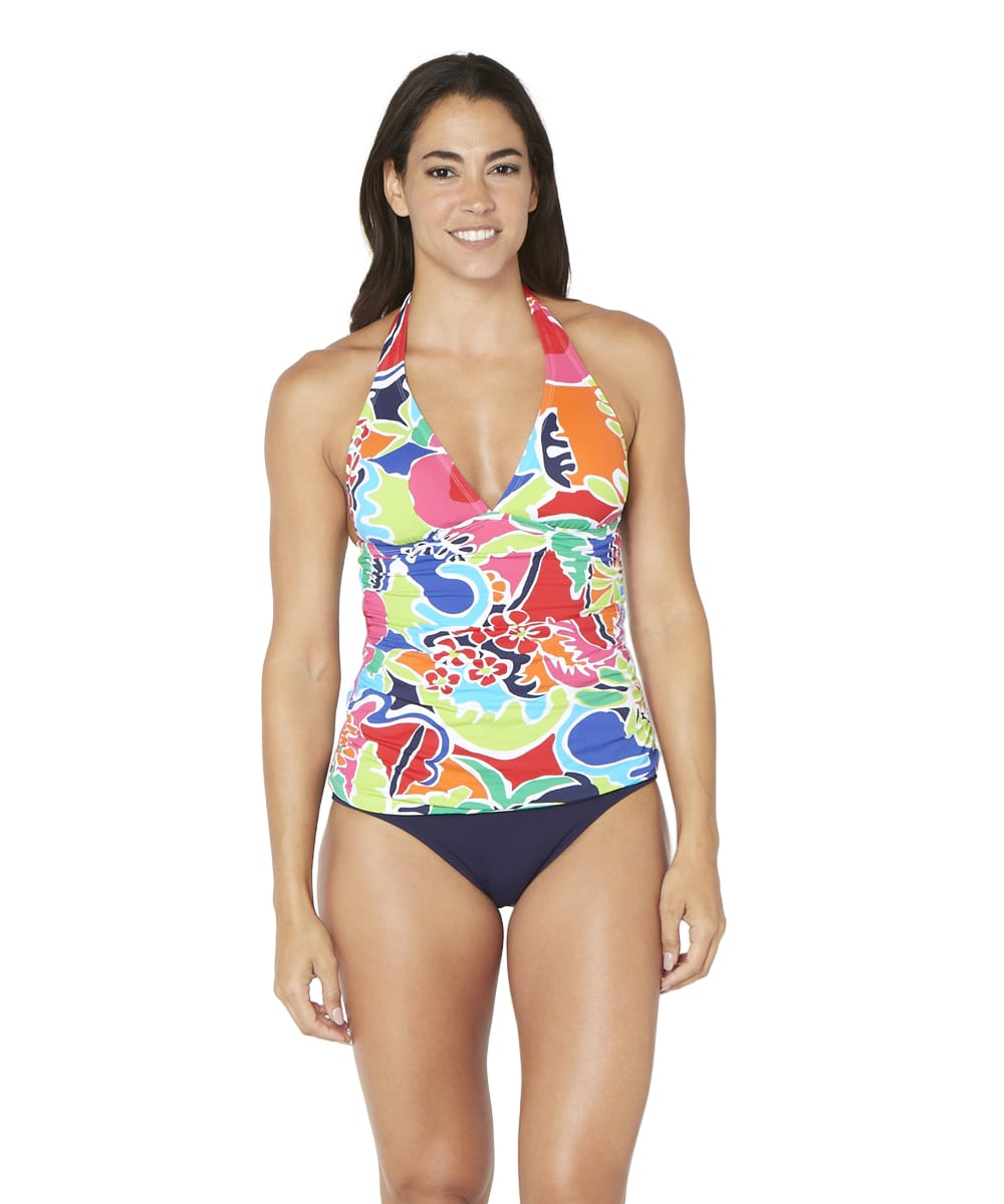 Nautica® Cocktails on the Bow Halter Tankini Swimsuit Top - Multi - Front