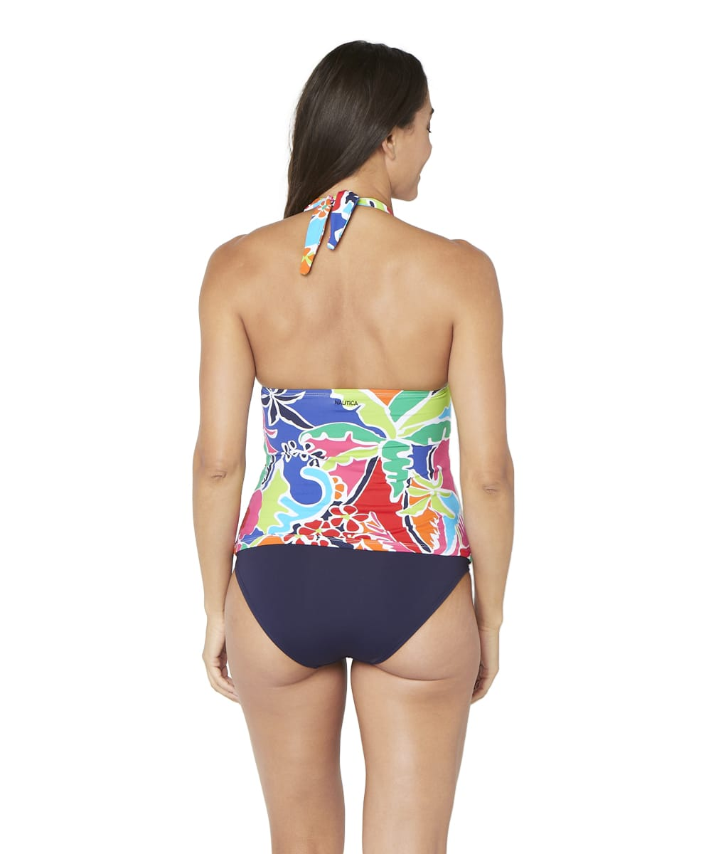 Nautica® Cocktails on the Bow Halter Tankini Swimsuit Top - Multi - Back