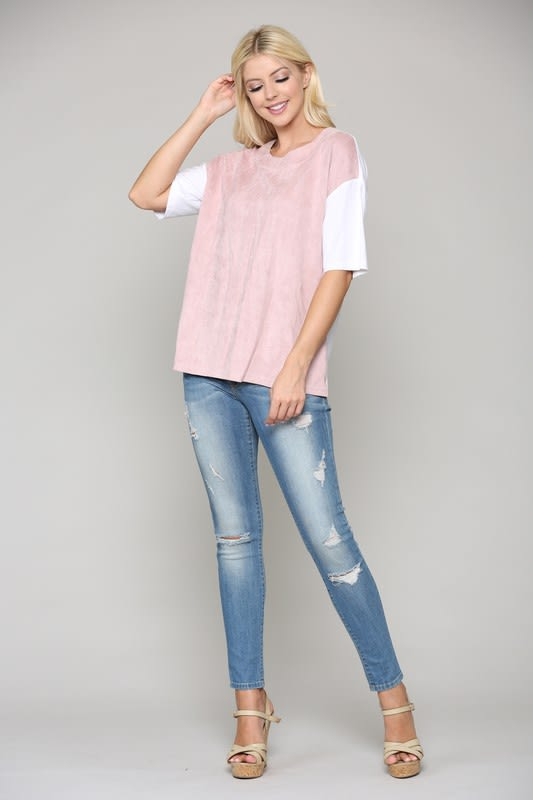 Ali Top - Pink - Front