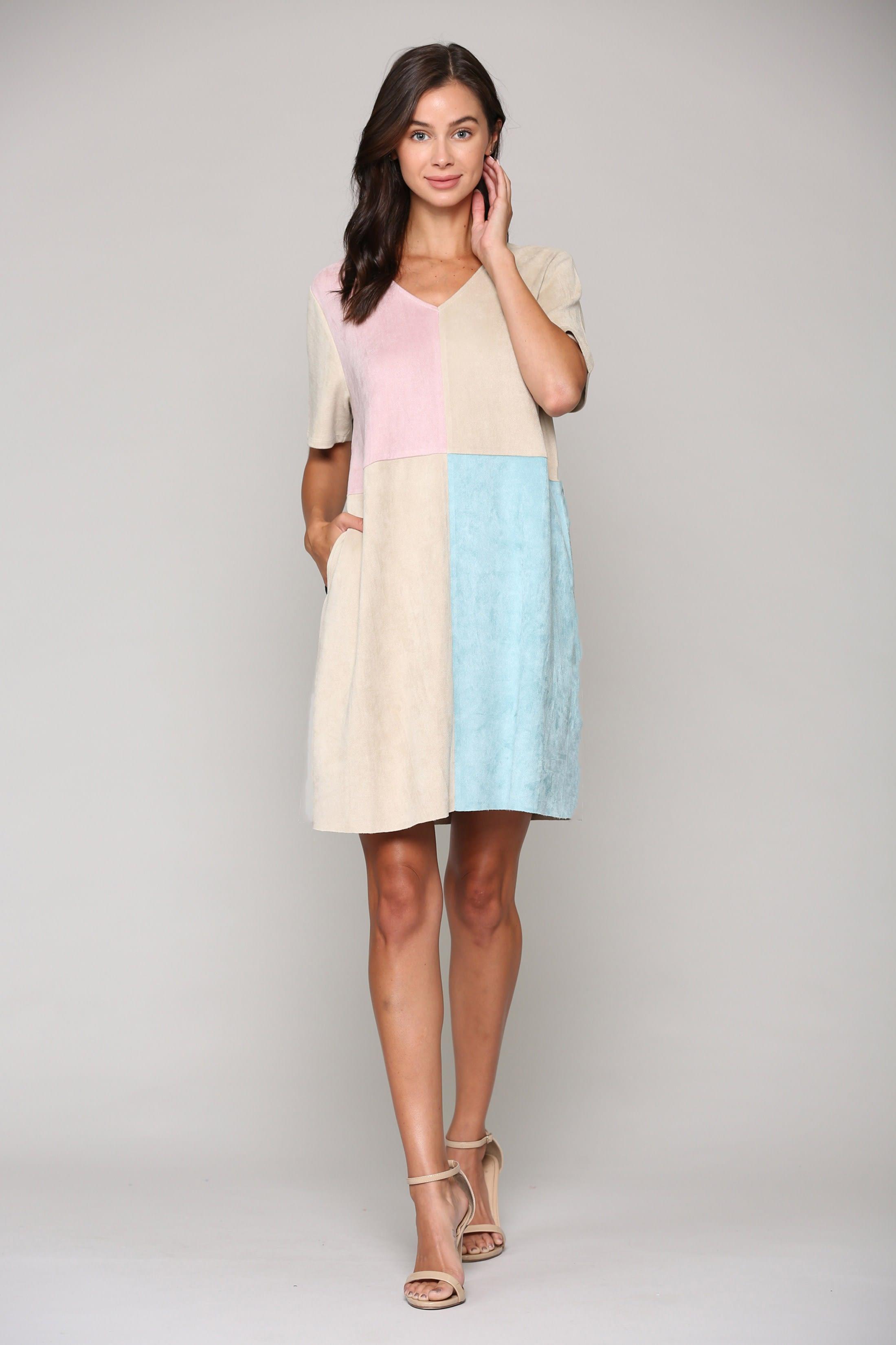 Annelise Multi-Color Tunic Dress -  - Front