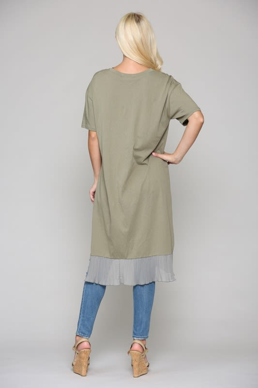 Kristen Tunic Dress - Olive - Back