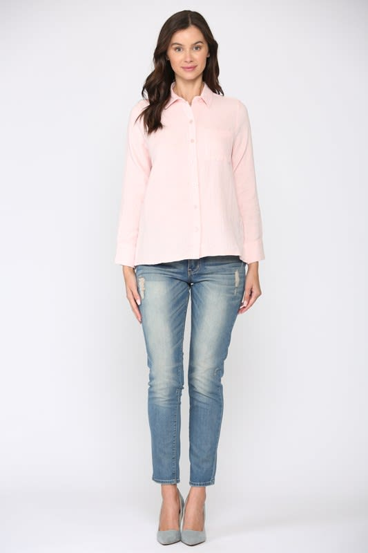 Gretta Top - Pink - Front