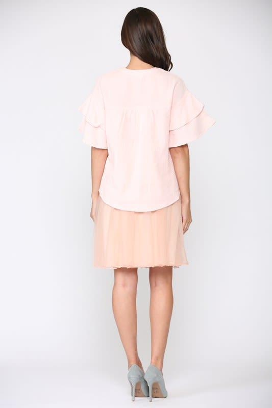 Gina Top - Pink - Back