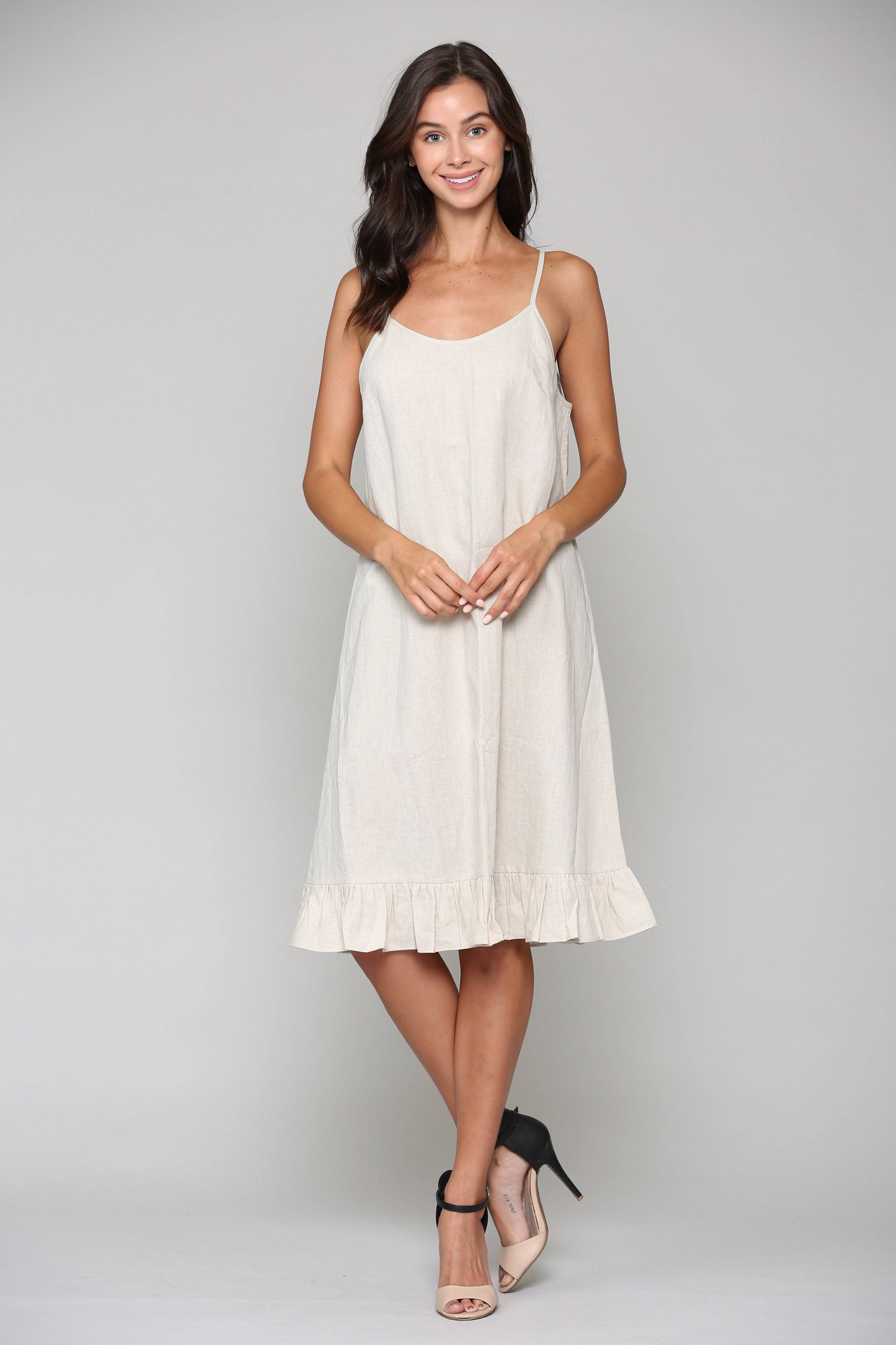 Lola Dress - Off White - Front