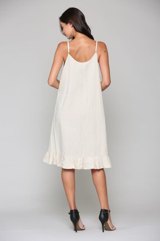 Lola Dress - Off White - Back