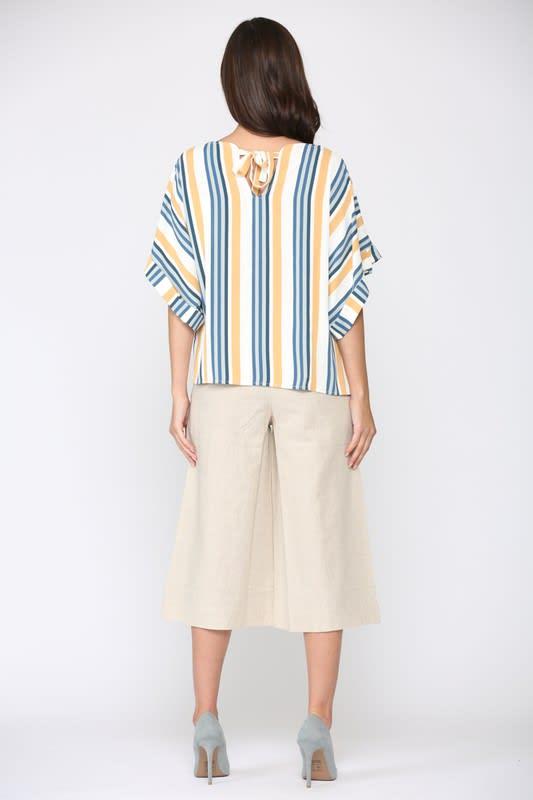Whynsy Stripe Top - Multi stripe - Back
