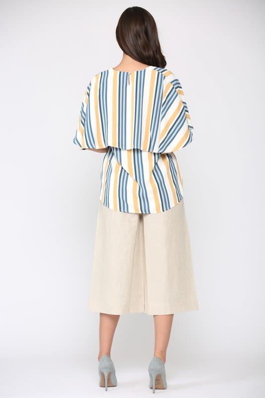 Windelle Stripe Top - Multi stripe - Back