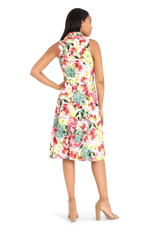 Summer Colors Floral Dress - Multi - Back