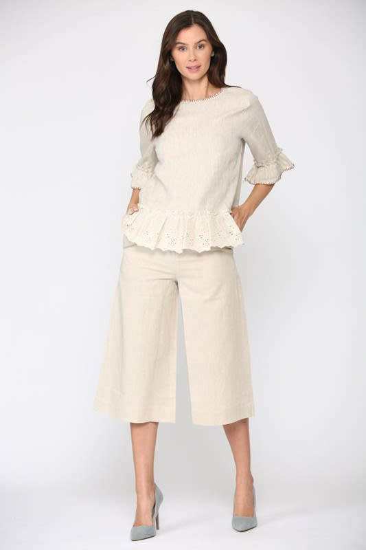 Lina Pants - Off white - Front