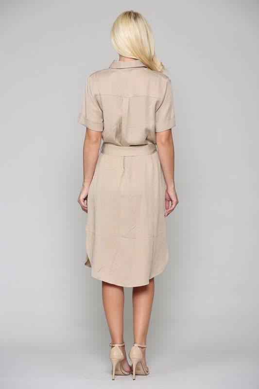 Teresa Tunic Dress - Khaki - Back