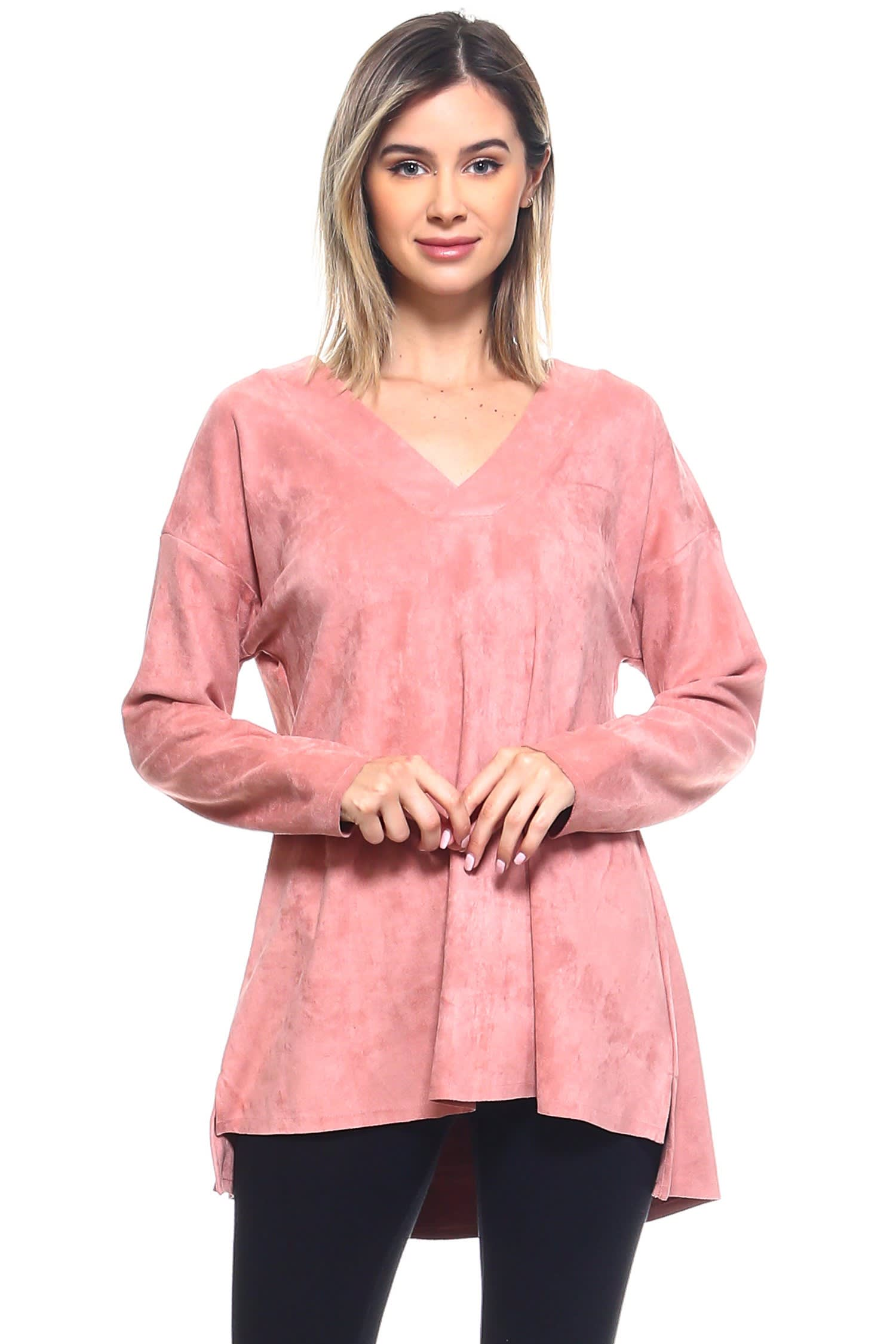 Andrea Top - Rose - Front