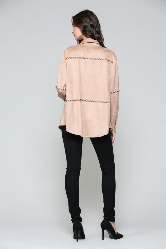 Alba Top - Khaki - Back