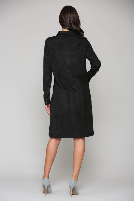 Anne Dress - Black - Back