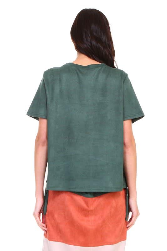 Alyssa Top - Hunter green - Back