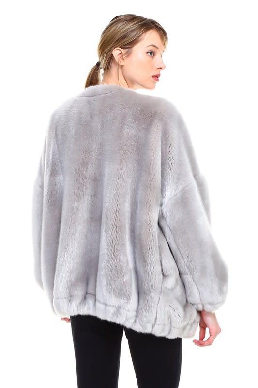 Raelene Jacket - Grey - Back