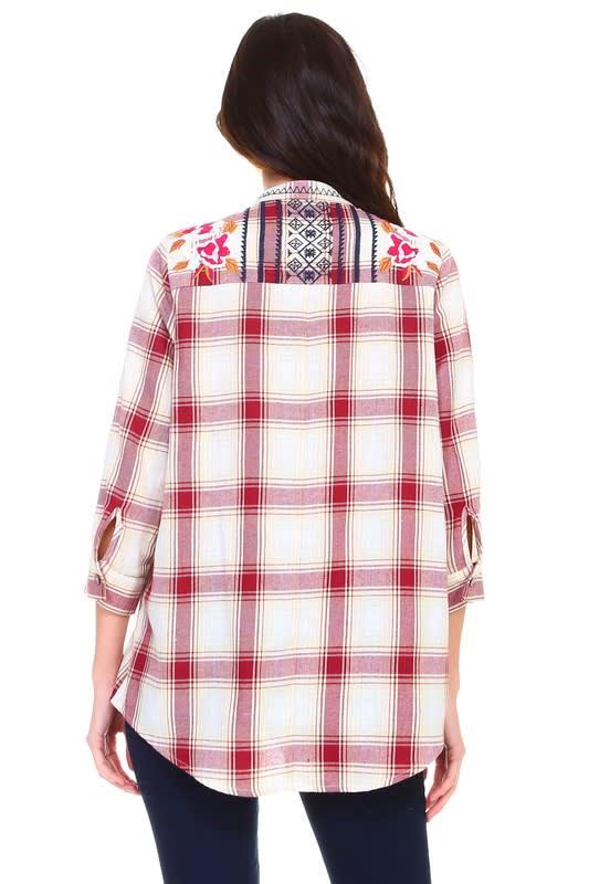 Penelope Embroidered Shirt - Multi - Back