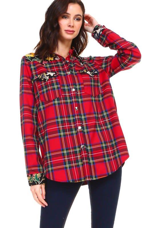 Paige Shirt - Multi - Front