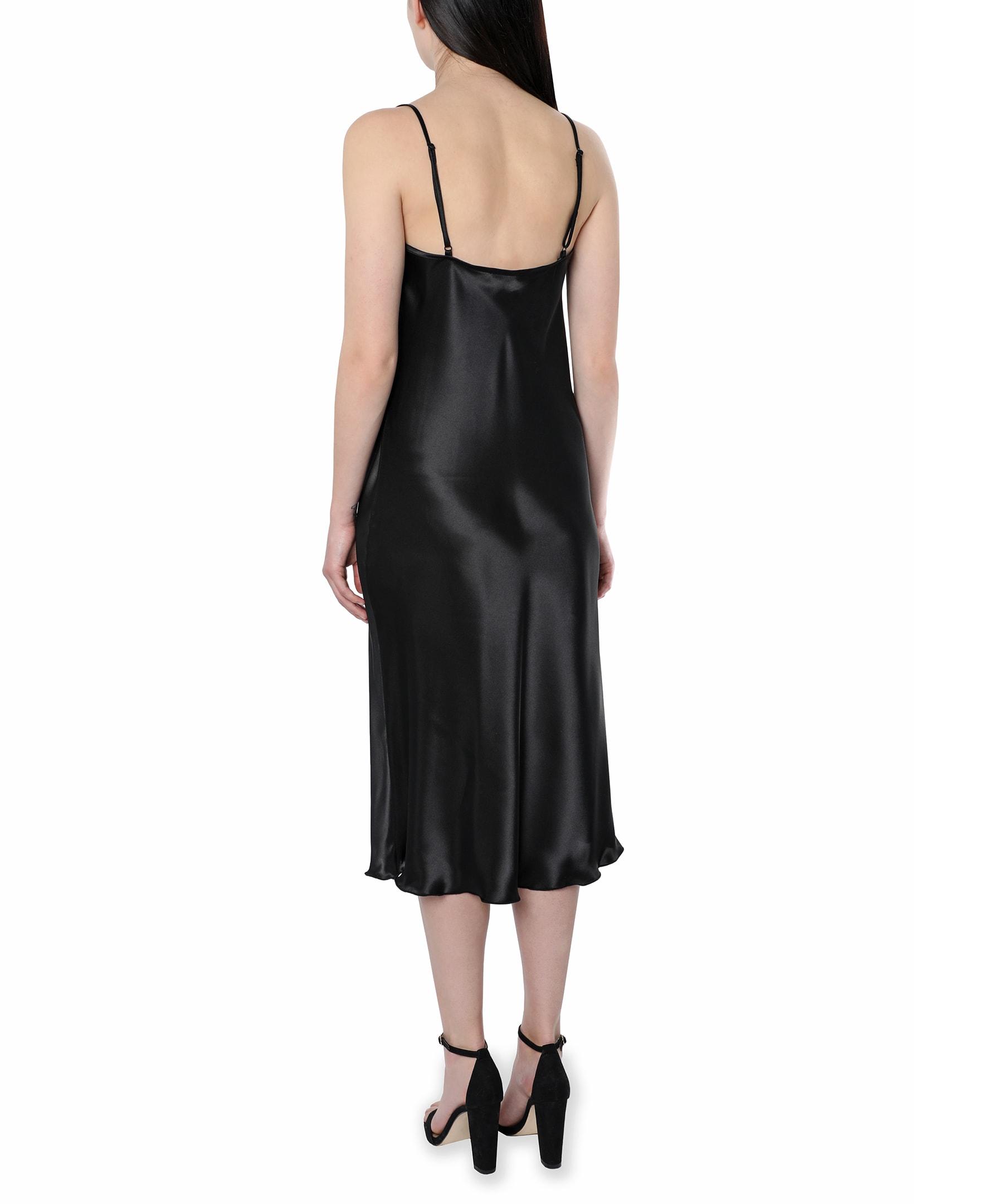 Bebe Satin Midi Dress - black - Back
