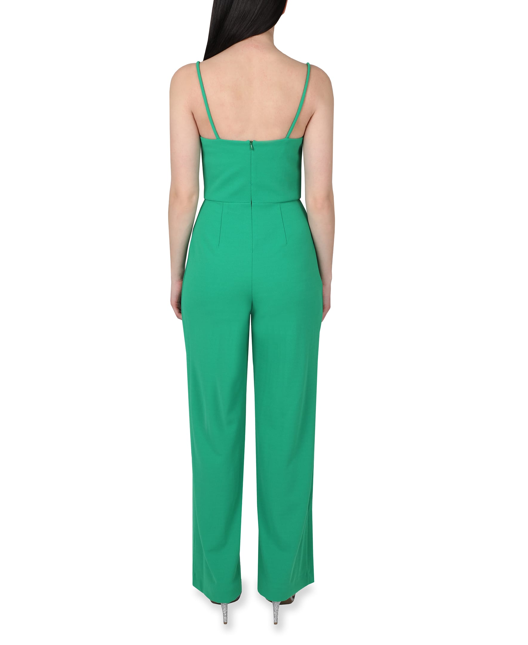 Bebe Open Leg Jumpsuit - green - Back