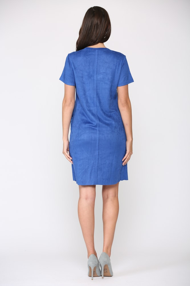 Audrey Tunic Dress - Cobalt - Back