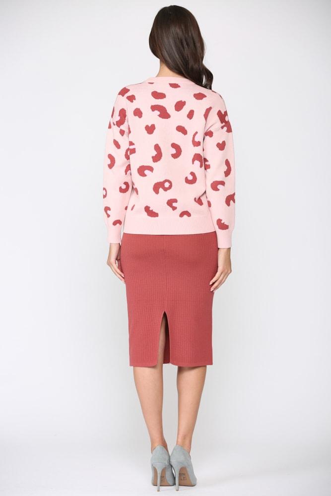 Sharlet Top - Pink red - Back