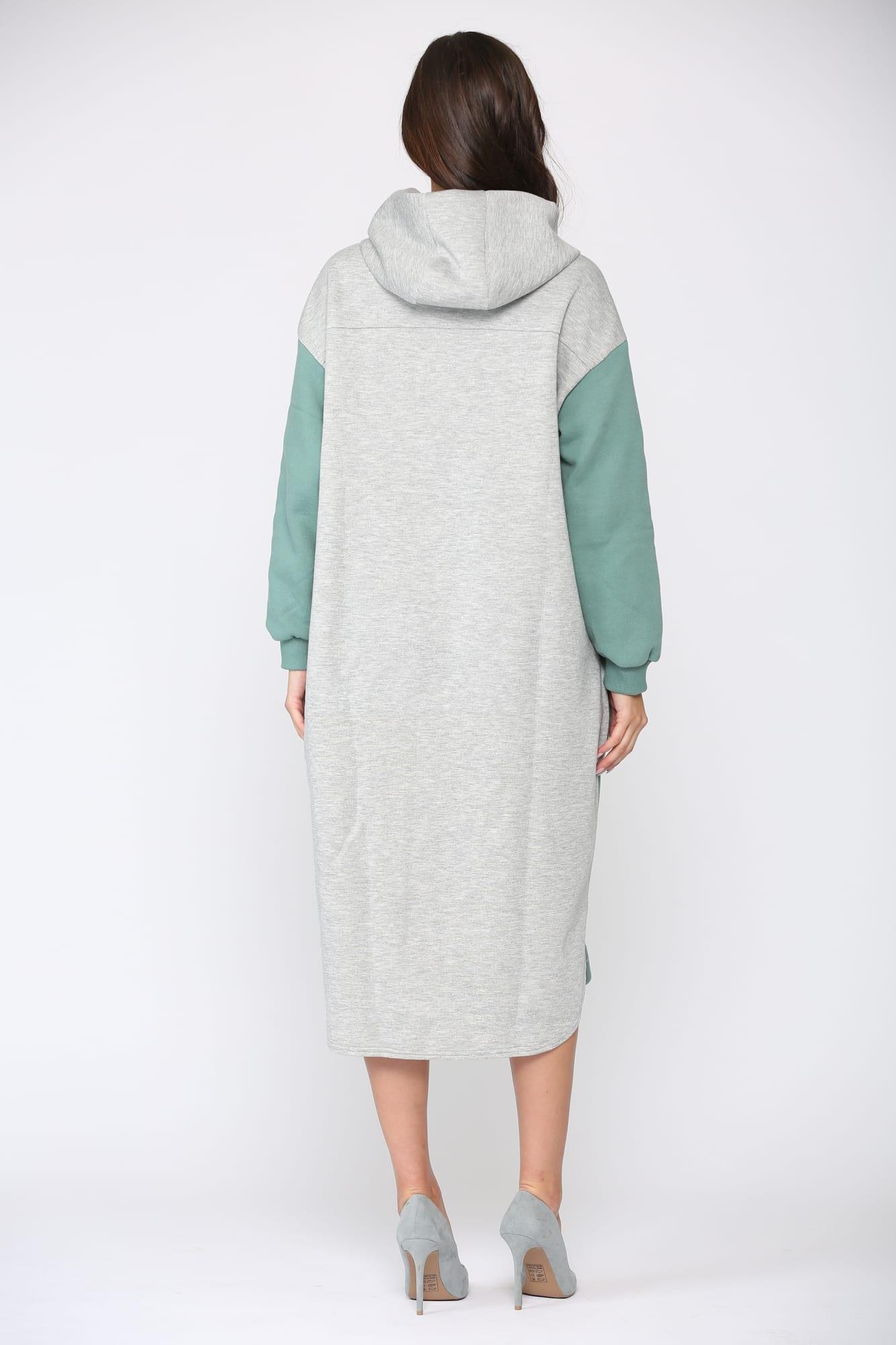 Fatima Color-block Dress - Green - Back