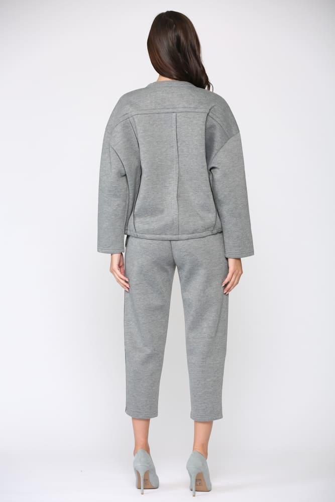 Farren Top - Gray - Back