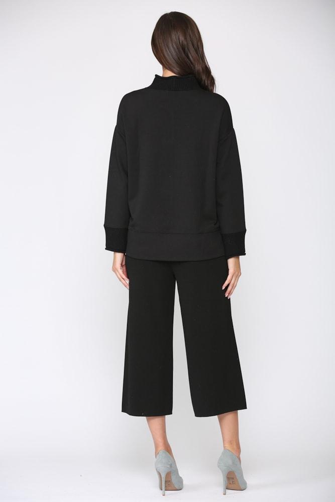Felisa Knit Top - Black - Back